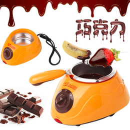 Wholesale Hot Chocolate Melting Pot Electric Fondue Melter Machine Set DIY Tool Durable