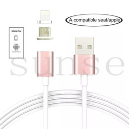 Wholesale Iphone Multi Charge Cable - Magnetic Multiple Charging Cable,2 in 1 Multi Data USB ,IOS,Micro B Fast Charging Cable for iPhone 5 6 7,Samsung S6 S7