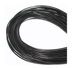 Wholesale Good Fashion Jewelry - fashion Wholesale 1mm Blackserers Free shiping Genuine Round 100% COW Real Leather Jewelry Cord String For Bracelet & Necklace hot good