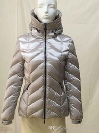 Wholesale Short Leather Jacket Hood - with tags)original FASHION M-003 women Badete Down Feather Puffer Parka Short Jacket with Hood Blue
