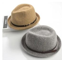 Wholesale Pure Jazz - Brand New Fashion Pure Women's cap Large Brim Caps fedoras Floppy Jazz hat Vintage Popular wool caps women's hat flat top hat Great
