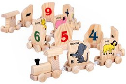 Wholesale Wholesale Wooden Train Tracks - Zodiac animal train. Wooden toys early childhood literacy track