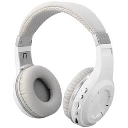 Wholesale Radio Ear Phones - Orignal Bluedio H+ Bluetooth Stereo Wireless headphones Mic Micro-SD port FM Radio BT4.1 Over-ear headphones free shipping