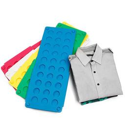 Wholesale clothes press - Clothes folder for Men women Adult Shirt Folding Board Flip Fold Shirt Folder Flip Fold Board Quick Press random color