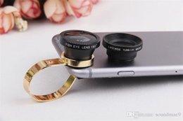 Wholesale Metal Fishing Hooks - 3 in 1 Universal metal hook Fisheye Lens Wide Lens Macro Lens 180 Fish Eye Lens for iPhone SE 6 6S Plus Samsung Galaxy S7 S6 Edge Plus
