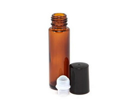 Wholesale Small Perfume Roller Bottles - Factory Price 10ml Roll on perfume bottle, 10 ml amber essential oil roll on bottle, small glass roller container