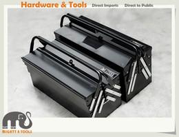 Wholesale Lockable Steel - X-Steel Heavy Duty 18.5 inch or 21 inch 5 Tray Foldable Cantilever Metal Tool Box Lockable