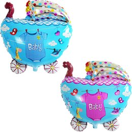 Wholesale Baby Celebration Party - 50pcs lot 57*51cm Baby Stroller Balloons Foil Printed Balloons For Children Gift Children Toys Birthday Party Decoration Celebration