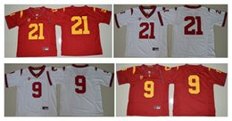 Wholesale Usc Football Jerseys - 2016 USC Trojans JuJu Smith-Schuster 9 Adoree' Jackson 21 Mens College Football Limited Jersey Red White