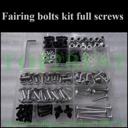 Wholesale Cheap Cbr Fairings - Cheap Motorcycle Fairing screw bolts kit for HONDA 2003 2004 CBR600RR,CBR 600 RR 03 04 CBR 600RR black fairings aftermarket bolt screws set
