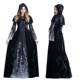 Wholesale Zombie Bride Costumes - Halloween costume queen queen dress ghost bride female emperor cosplay in Europe and the witch zombie vampires