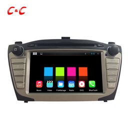Wholesale Dvd Hyundai Free Rear - 1024X600 Quad Core Android 5.1.1 Car DVD Player for Hyundai IX35 with Radio GPS Navi Wifi DVR Mirror Link BT+Free Gifts