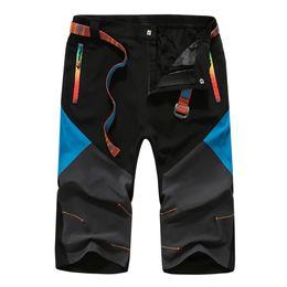 Wholesale Overall Ski - Wholesale-2016 Men Calf Length Pants Summer Outdoor Overalls Men's Ski Pants Waterproof Climbing 3 4 Cargo Pants Trousers Big Size 3XL 4XL