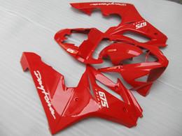 Wholesale Triumph Daytona675 - Injection mold Fairing kit for Triumph DAYTONA675 05 06 07 08 Daytona 675 2005 2006 2008 ABS Hot red Fairings set+7gifts DD08