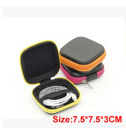 Wholesale Earphone Cases Zip - PU Leather Purse Bag Packaging Box with Zip lock For iphone 7 Earphone USB Charger,USB Cable