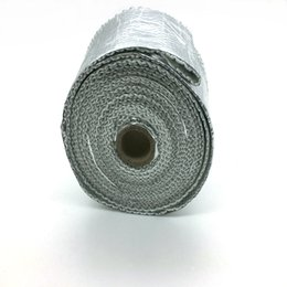 "Wholesale Exhaust Meter - 2"" x 20 Meters Per Roll Aluminium Foil Fiberglass Exhaust Header Heat Wrap With 5 Pieces Of Stainless Ties Kit"