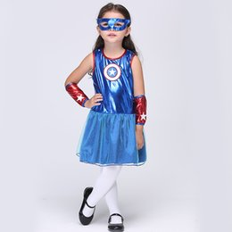 Wholesale Child S Mask - Gold Hands Family Halloween The cuff gloves cotton Superman COSPLAY female's goggles children superhero clothes with mask Free shipping