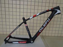 Wholesale Carbon Fibre 29er Frame - Newest QILEFU 29*15 19 inch Mountain bicycle lightest matte UD 3K full carbon fibre bike frame MTB 29er parts headsets Free ship
