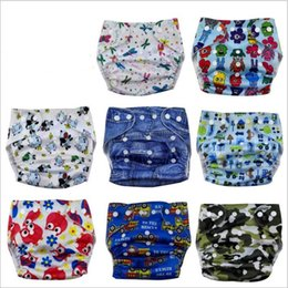 Wholesale Toddler Cloth Nappies - Baby Diapers Toddler Cloth Nappies Nappy Diapers TPU Print Reusable Diaper Covers Waterproof Washable Adjustable Newborn Cloth Diapers B3161