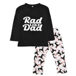 Wholesale Dog Clothes Pants - Baby Boys Autumn Long Sleeve Letter Black T-shirt+Dog Animal Pants 2pcs Christmas Kids Cartoon Printed Clothing Sets