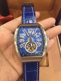 Wholesale Mm Racing - Racing watch 2016 hot sale Luxury BLUE leather Automatic mechanical movement blue dial mens watches dress WATCH fashion wristwatch