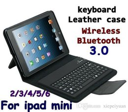 Wholesale Purple Tablet Bag - Wireless Bluetooth Keyboard leather case & Bags Stand Holder Case Cover for tablet ipad Mini 2 3 4 Air ipad 5 ipad 6 Air 2 Protective