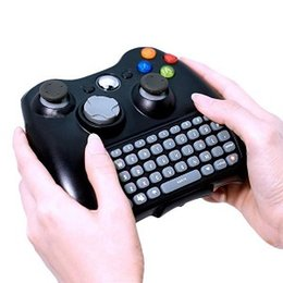 Wholesale Keyboard Microsoft - 2.4G Mini Wireless Chatpad Test Message Game Qwerty Keyboard for Microsoft Xbox 360 One Controller Keyboard Adapter Receiver Retail Box Q1