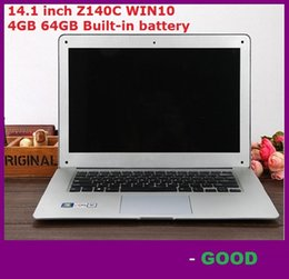 Wholesale Atom Computers - wholesale 14.1 inch ultrabook slim laptop computer Itel Atom X5-Z8300 Z140C Quad-core laptop 4GB 64GB WIFI Windows 10 laptop notebook