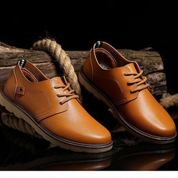 Wholesale Hot New Lace Up Shoes - 2016 autumn new fund sell like hot cakes men fashion Oxford leisure lace-up shoes with flat sole
