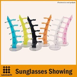 Wholesale Eyeglasses Rack - Wholesale - 6 Color Sunglasses Showing Colorful Racks Eyeglasses Frame Display Holder Stand High quality free shipping