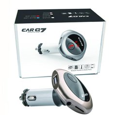 Wholesale Sd Card Car Stereos - Q7 Bluetooth car kit Handsfree MP3 Player FM Transmitter Dual USB Car Charger FM Modulator Support U Disk SD Card A2DP