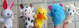 Wholesale Puppet Plays - DHL Fedex EMS Animal Finger Puppets Kids Baby Cute Play Storytime Velvet Plush Toys (Assorted Animals)