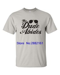 Wholesale quotes movies - The Big Lebowski The Dude Abides Movie Quote Sun Glasses Funny Men's T Shirt 538
