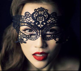 Wholesale Valentine Costumes - NEW Fashion Sexy Lace Party Masks Women Ladies Girls Halloween Xmas Cosplay Costume Masquerade Dancing Valentine Half Face Mask