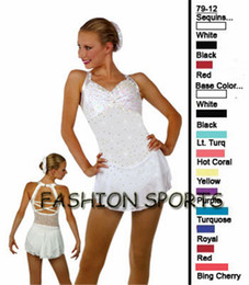 Wholesale Ice Skating Dresses For Girls - Professional Customized Ice Skating Dresses For Girls With Spandex Graceful New Brand Ice Skating Competition Dress DR2630