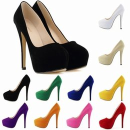 Wholesale Orange Platforms Heels - Zapatos Mujer Fashion Womens Concealed Platform Stiletto High Heels Ladies Party Wedding Shoe Size US 4-11 EU 35-42 D0058