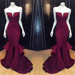 Wholesale Trumpet Mermaid Strapless Floor Length - 2017 Vestidos Largos De Elegant Evening Dress Floor Length V-neck Strapless Sleeveless Mermaid Prom Dress Vestido De Festa