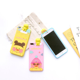 Wholesale Phone Covers Bears - hot sell 3D Cute Cases for iPhone 7 Case Clear Silicone Cartoon Bear Phone Back Cover for iPhone 7 Plus 6 6s