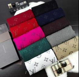 Wholesale Red Leopard Print - Check Women Wool Cotton Cashmere Silk Scarves Scarf Wrap Shawl Pashmina LOGOMANIA SHINE SCARF M71166 180X35cm