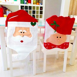 Wholesale Festival Chair - 2Pcs Christmas Supplies Dining Chair Cover Christmas Decoration Mr And Mrs Santa Claus Cover Festival Home Decor