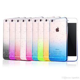 Wholesale Iphone Rain Drop - Soft TPU Thin Rainy Gradient RainDrop Clear Case For iPhone 7 7 Plus 6 6S Plus 5S Rain Drop Clear WaterDrop Phone Cover