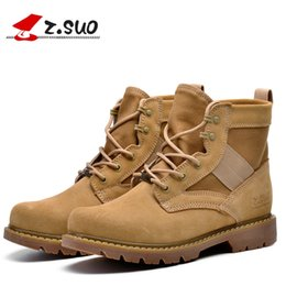 Wholesale Black Lighting Polices - New Military Boots outdoor Desert Tan combat army boots male shoes Men Tactical Police boot