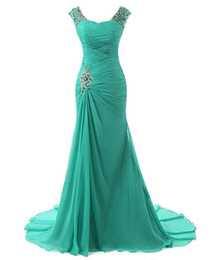 Wholesale Fashion Photo Lighting - Vestidos Largos Elegantes 2016 Free Shipping Emerald Green Evening Dresses Long Chiffon Mermaid Prom Bridesmaid Dresses