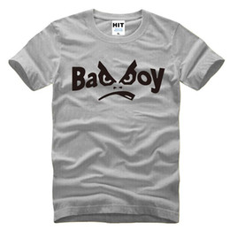 Wholesale Printed T Shirts For Boys - WISHCART Creative Personality Bad Boy Letter Printed Men's T-Shirt T Shirt For Men 2016 New Short Sleeve O Neck Cotton Casual Top Tee