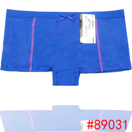 Wholesale Stretch Cotton Boxers - Wholesale-Promotion Lady sport underwear Plain Cotton women boxer short stretch lady panties women boyshort lingerie intimate undergarment