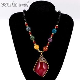 Wholesale vintage plastic charm necklace - New Arrivals 19pcs lot Multi Styles Bohemia Styles Pendent necklace Jewelry for Woman Fit Bohemia vintage Dress XL0046-59