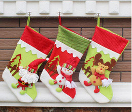 Wholesale Christmas Stocking 3d - 2016 New style 3D Creative Christmas Decoration Gift Christmas Socks Gift Bags Christmas Stocking For Family