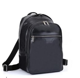 Wholesale Genuine Leather Key Holder - Free Shipping highest quality 100% genuine leather MICHAEL backpack MICHAEL N58024 man's damier graphite canvas backpacks Bag 45*26*17CM