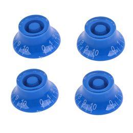Canada 4pcs bleu top contrôle de vitesse chapeau platic matériel boutons de guitare main transparent pour guitare électrique MU0744-4 cheap electric materials Offre