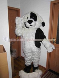 Wholesale White Dog Mascot Suit - Cute black and white stitching plush mascot costume hot dog sales, Dalmatians mascot suit free shipping.